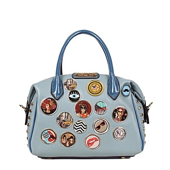 Nicole Lee Handbags - ✤ Maarii Button Mini Boston Bag